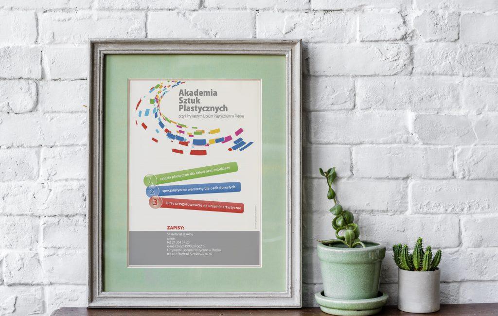 Materiały reklamowe dla Akademii Sztuk Plastycznych