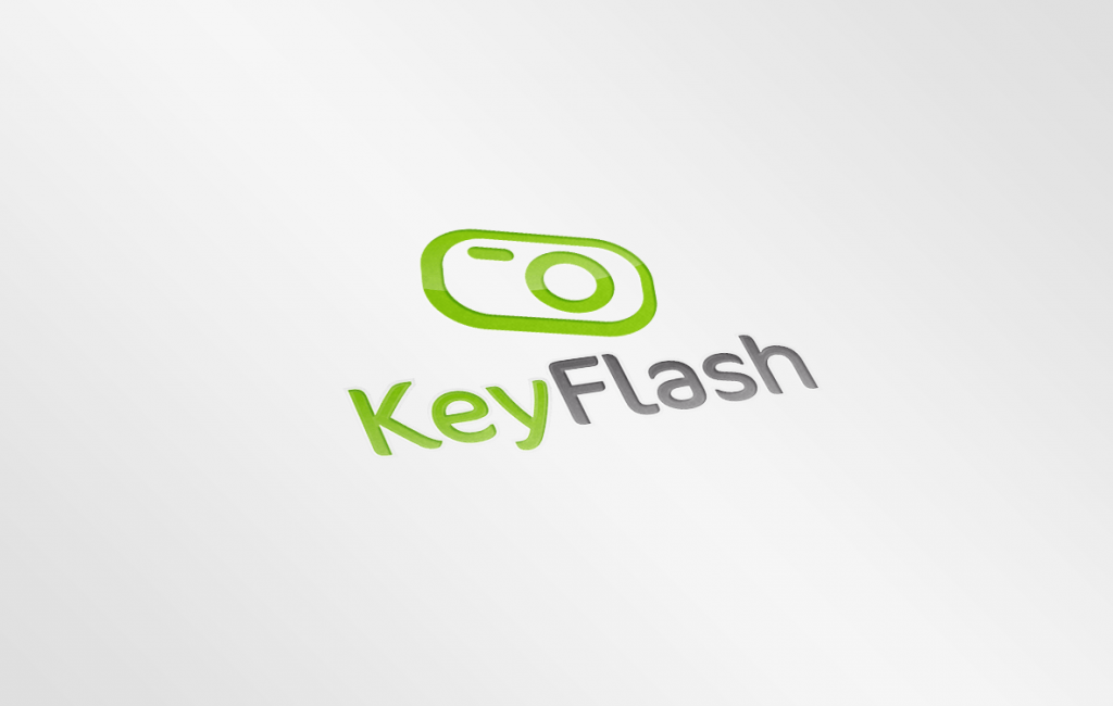 Logotyp dla studia fotograficznego KeyFlash