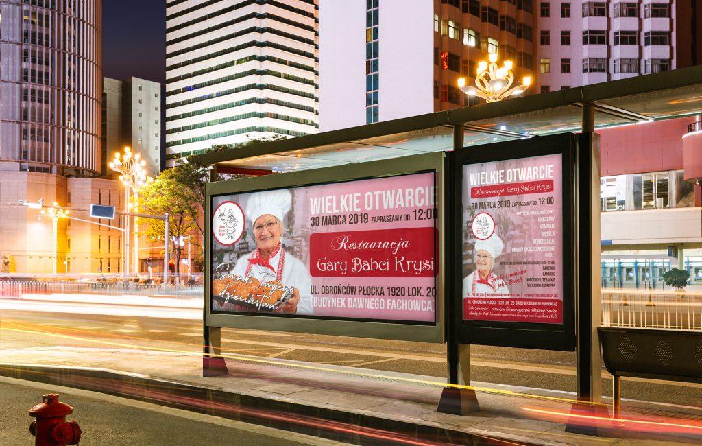 Materiały reklamowe dla Restauracji dla seniorów Gary Babci Krysi