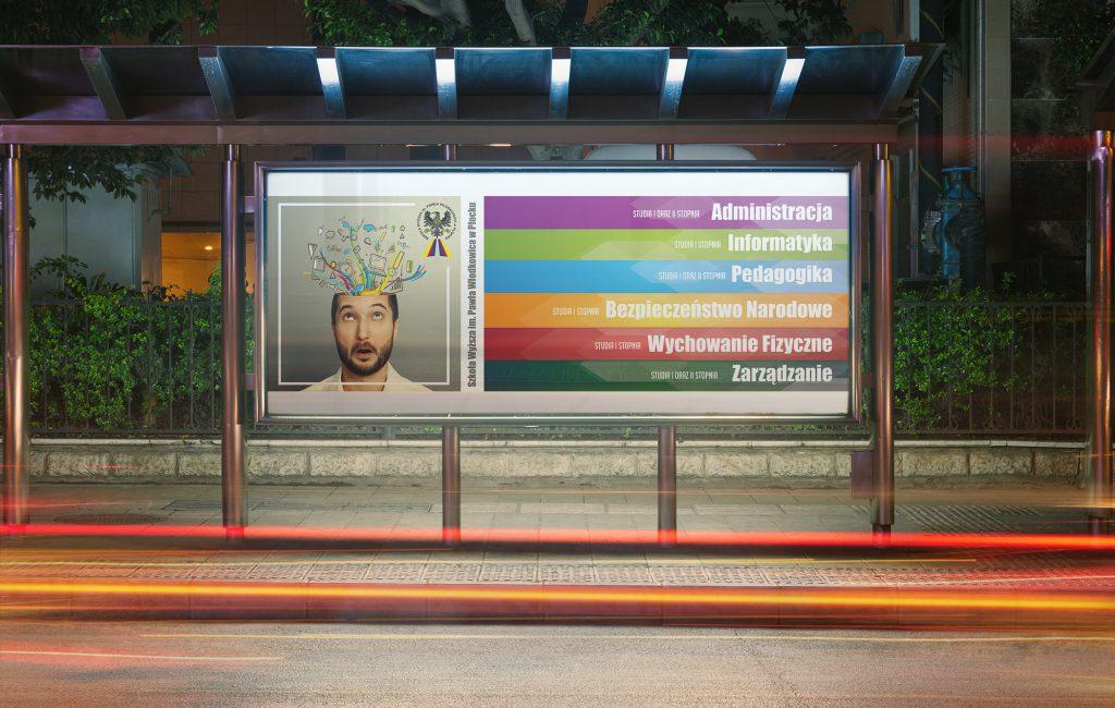 Propozycja baneru reklamowego dla Szkoły Wyższej im. Pawła Włodkowica w Płocku