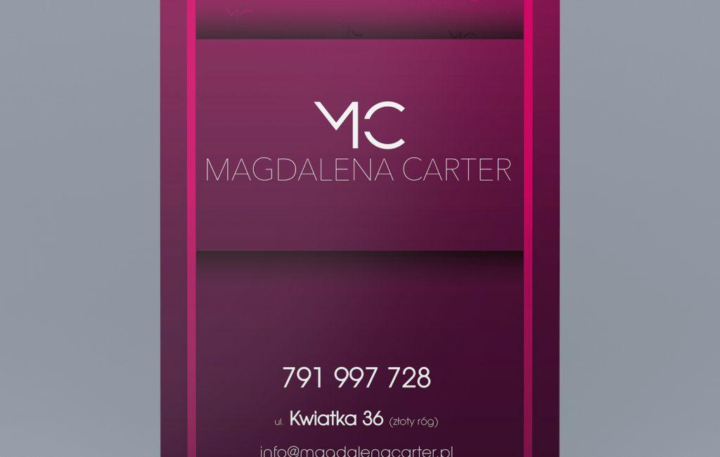 Roll up reklamowy dla projektantki mody Magdaleny Carter