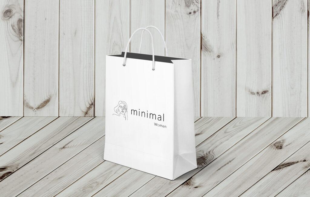 "logotyp ""minimal woman"""