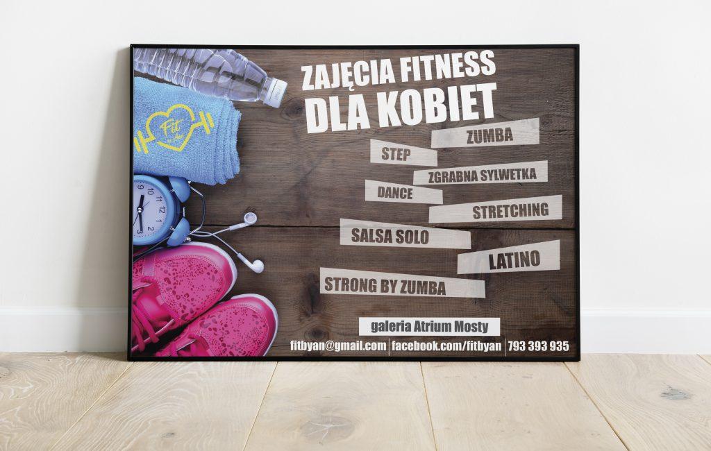 Seria plakatów trenerki fitness