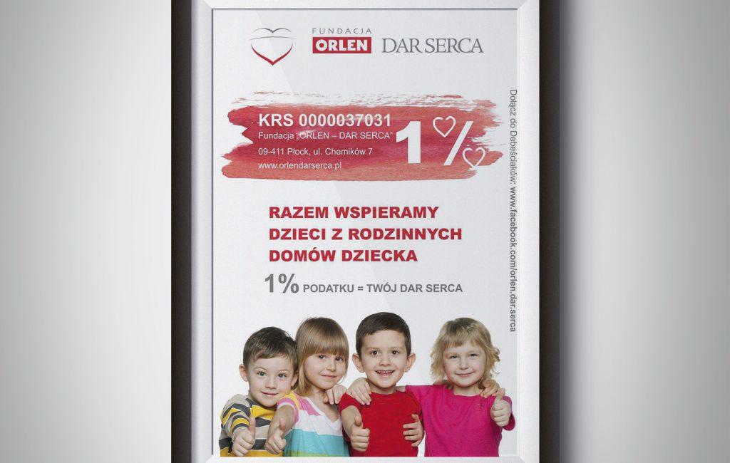 Plakat 1% dla Fundacji Orlen DAR SERCA