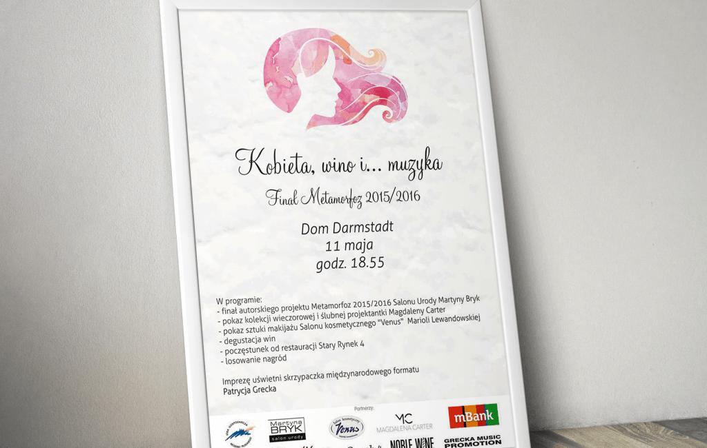 Plakat promujący Finał Metamorfoz Salonu Martyna Bryk
