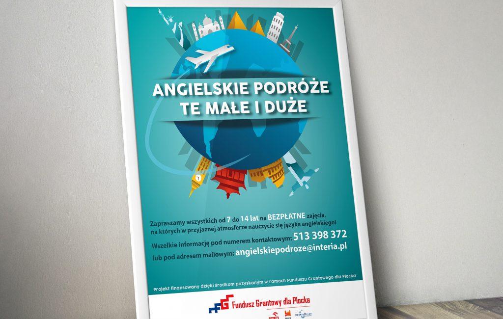 Plakaty promujące projekty z Funduszu Grantowego dla Płocka