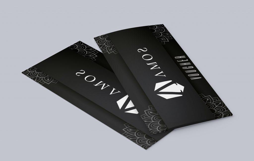 Materiały reklamowe dla atelier AMOS