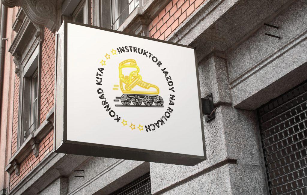 Logotyp dla instruktora jazdy na rolkach