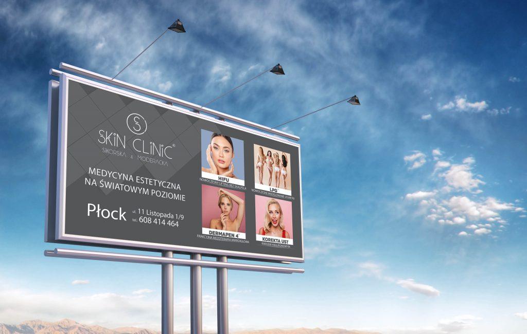 Baner reklamowy dla Skin Clinic Sikorska & Moderacka