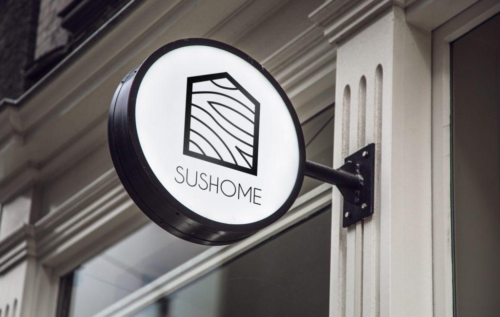 Propozycja logotypu dla Sushome – domki wypoczynkowe