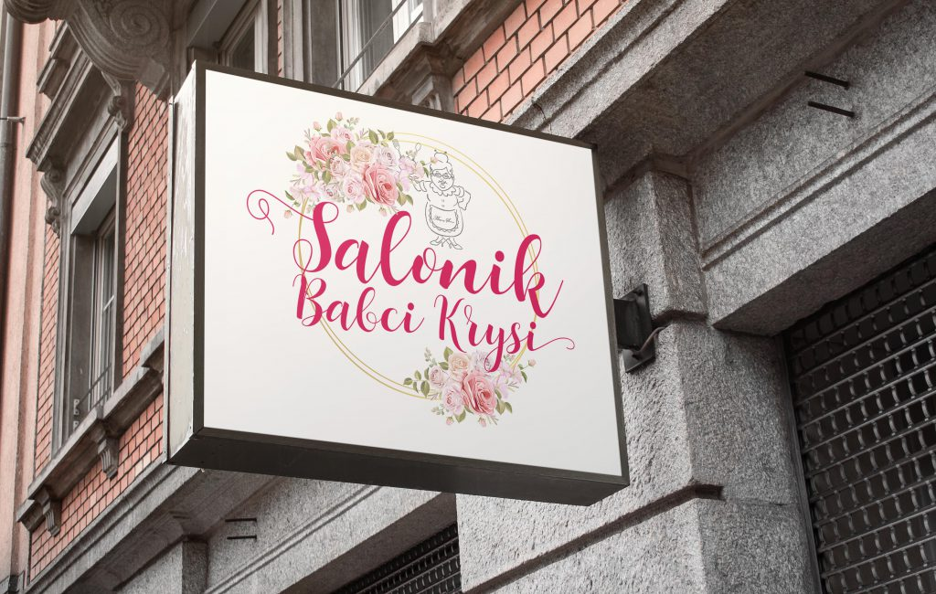 """Logotyp dla restauracji """"Salonik Babci Krysi"""""""
