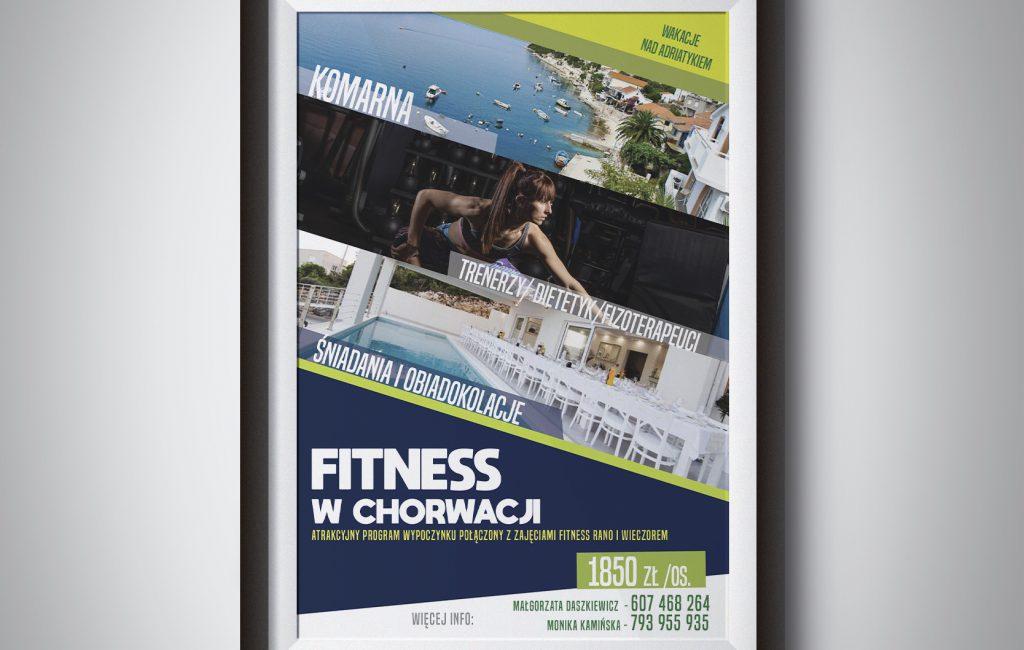 Plakat dla zespołu fitness