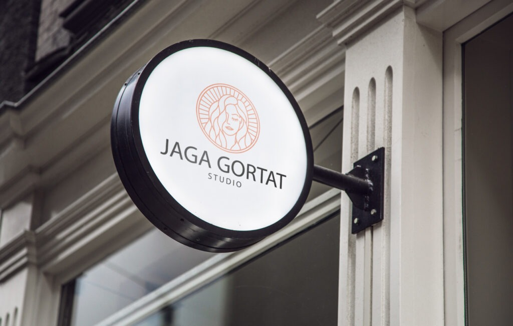 """Logotyp """"Jaga gortat studio"""""""